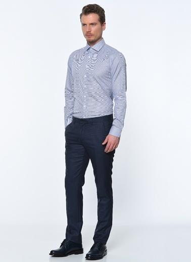 George Hogg Uzun Kollu Slim Fit Gömlek Lacivert